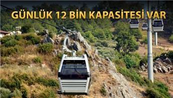 Antalya'da 17 kabinli 'Alanya Teleferik' hizmete girdi