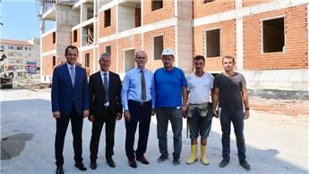 Bursa'da yaptırılan öğrenci yurdunun kaba inşaatı tamamlanıyor