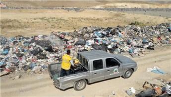Siirt'te 180 ton evsel atık depolama tesisine dökülüyor