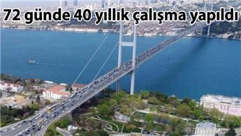 15 Temmuz Şehitler Köprüsü'nde çalışmalar bitti!