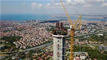 Küçük Çamlıca TV -Radyo Kulesi inşaatı ilerliyor