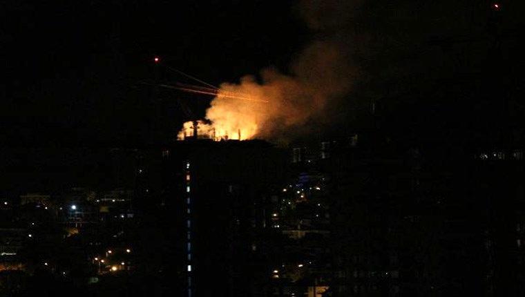 Beykoz'da 33 katlı inşaatta yangın!