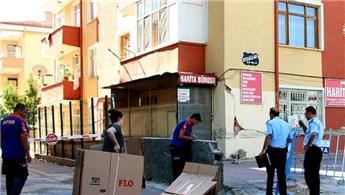Konya'da 5 katlı bina çökme tehlikesine karşı boşaltıldı
