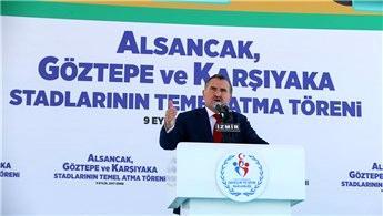 Alsancak, Göztepe ve Karşıyaka statlarının temeli atıldı!
