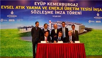 Kemerburgaz'da kurulan tesis çöpten elektrik üretecek