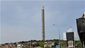 Çamlıca TV-Radyo Kulesi, 225 metreye ulaştı