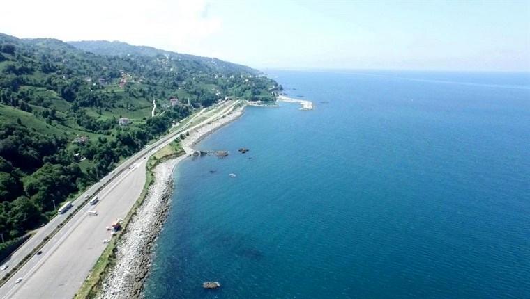 Rize-Artivin Havalimanı için deniz dolgusuna başlandı!