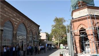 Bursa'daki şadırvan üstü minare restore ediliyor