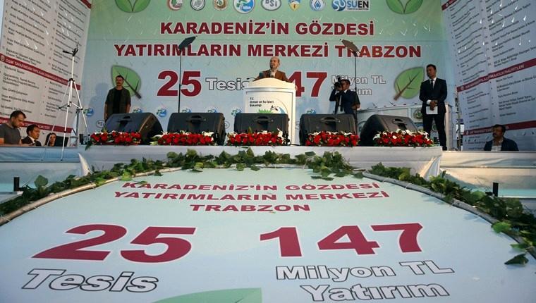 Trabzon'da 147 milyon liralık 25 tesisin temeli atıldı