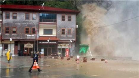 Rize'de yağış sonrası hasar tespit çalışmaları başlatıldı
