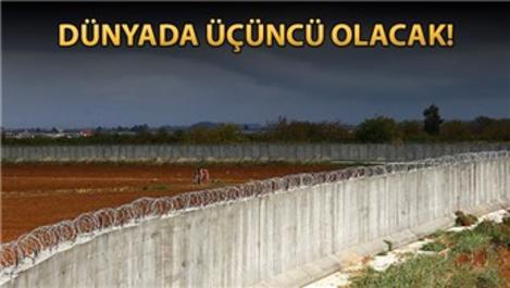 Suriye sınırında inşa edilen duvar bitme aşamasında!