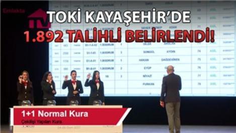 TOKİ Kayaşehir 3+1 ve 1+1 kura sonuçları!
