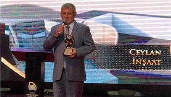 Ceylan İnşaat'a 'Yılın Kurumsal Markası' ödülü!