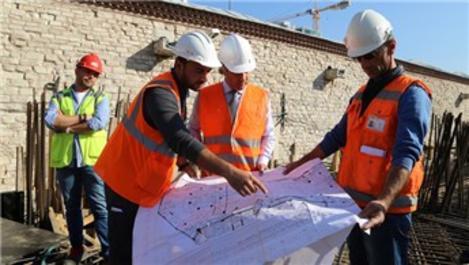 Taksim'deki cami projesinin inşaatı sürüyor