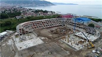 Yeni Ordu Stadı'nda inşaat çalışmaları hızla ilerliyor