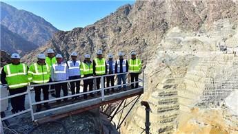 Yusufeli Barajı'ndaki çalışmalar hızla ilerliyor
