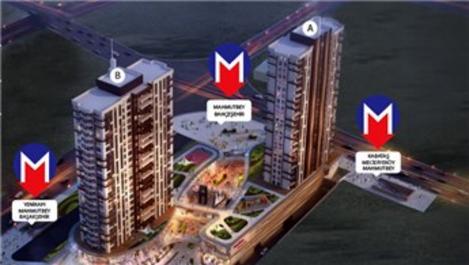 Luxera Meydan, 3 metro hattının yanı başında yükseliyor