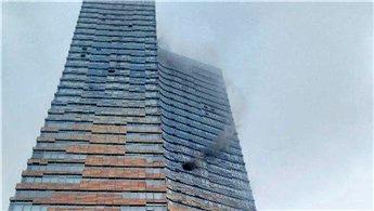 Ataşehir'de 52 katlı gökdelende yangın çıktı!