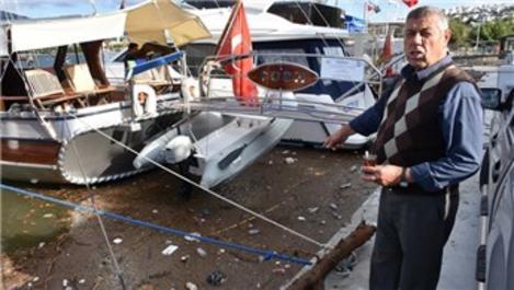 Bodrum'da yağışın ardından denizde kirlilik meydana geldi