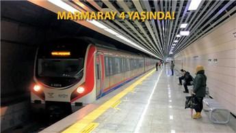 Marmaray, 4 yılda 226 milyon yolcu taşıdı