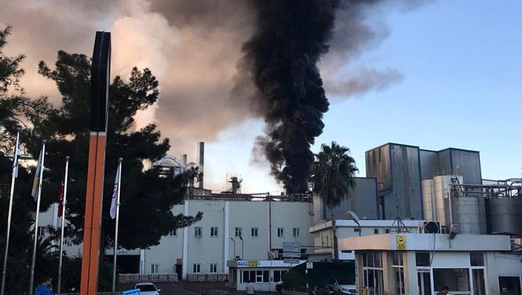 Adana'da yağ fabrikasında yangın!