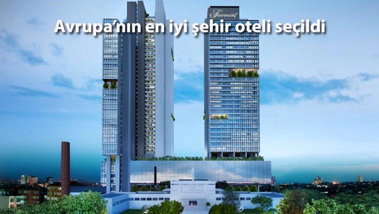 """Fairmont Quasar İstanbul, """"en iyi otel"""" ödülünü aldı"""