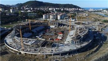 Giresun Çotanak Stadı'nın yüzde 35'i bitti!