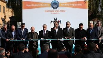 Mehmet Özhaseki, Kayseri'deki Sümer Parkı'nın açılışını yaptı