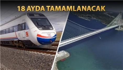 Gebze'den 3. Köprü'ye hızlı tren hattı geliyor