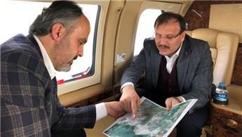 Çavuşoğlu ve Aktaş Bursa'daki projeleri havadan inceledi