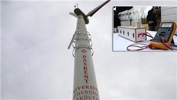 Başkent Ünivesitesi'nin tasarladığı rüzgar türbini çalıştırıldı