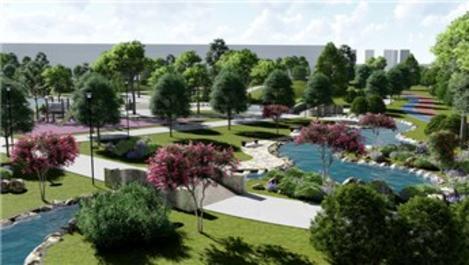 TOKİ, 94 bin metrekarelik alana 'Millet Bahçesi' yapıyor