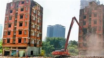 Çin'de 7 yıldır yıkıma direnen bina için yıkım izni!