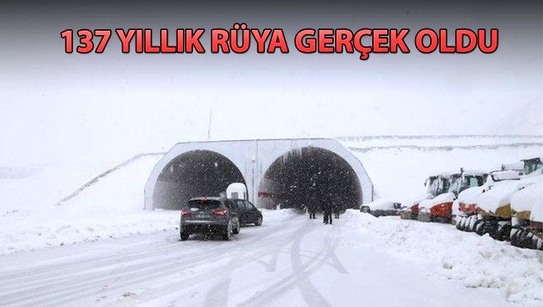 Ovit Tüneli, ulaşıma açıldı
