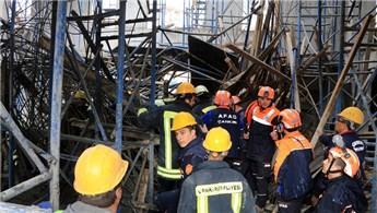 Çankırı'da cami inşaatında çökme