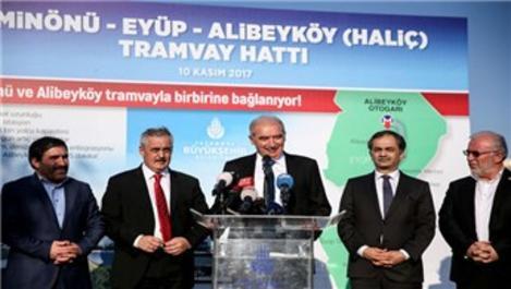 Eminönü-Eyüp-Alibeyköy Tramvay hattında son durum