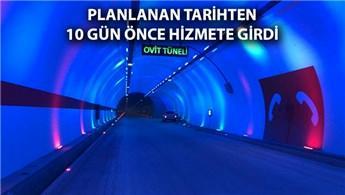 Ovit Tüneli'nde geçişler başladı