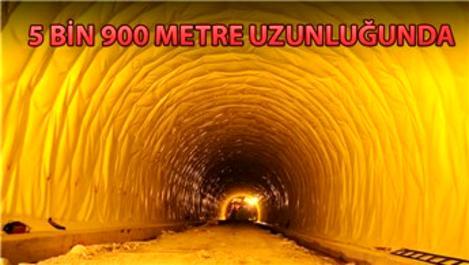Cankurtaran Geçidi'ndeki tünelin yapımı sürüyor