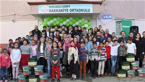 Permolit Boya, İzmit Hakkaniye Ortaokulu'nu boyadı