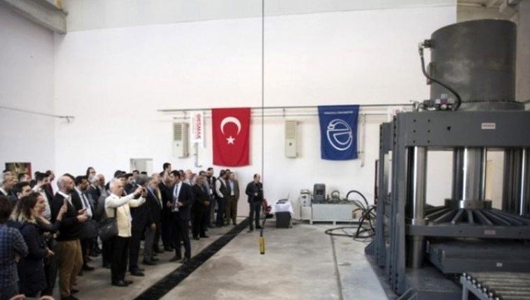 AÜ Sismik İzolatör Test Merkezi açıldı
