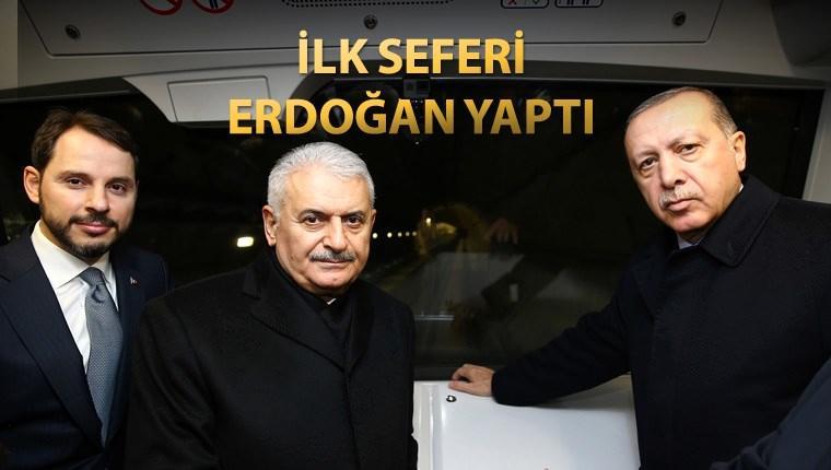 Sürücüsüz ilk metro hattını Erdoğan test etti