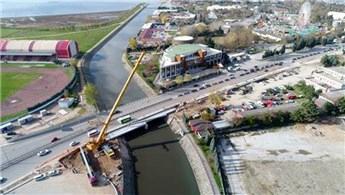 Kumla Deresi'nde köprü genişletme çalışmaları devam ediyor