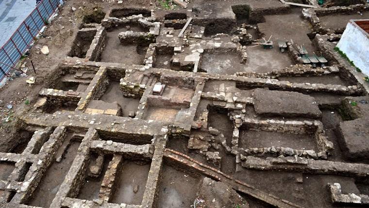 Çanakkale'de AVM inşaatında tarihi buluntulara rastlandı