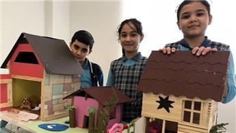 Öğrenciler, hayallerindeki müstakil evleri tasarladı