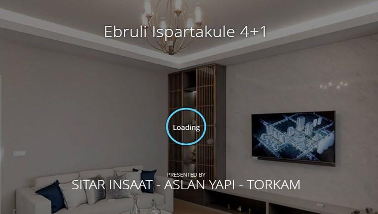 Ebruli Ispartakule'nin örnek daireleri şimdi 3D!
