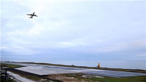 Trabzon Havalimanı yeniden uçuşa açıldı!