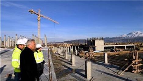 Isparta Şehirlerarası Terminali inşaatı hızla ilerliyor