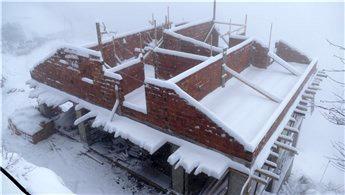 Eren Bülbül'ün ailesi için yaptırılan ev bahara hazır olacak
