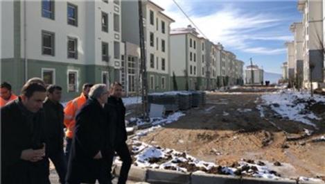 Tokat'ta durdurulan TOKİ konutları inşaatı yeniden başladı