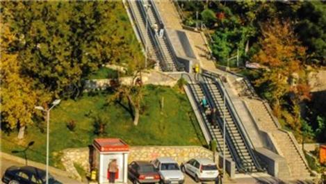 Karabük'te yüksek kesimlerdeki mahallelere yürüyen merdiven